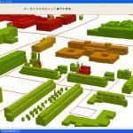 BAG panden in 3D visualisatie op bouwjaar.