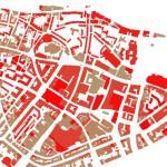 BAG Panden in het centrum van Nijmegen gevisualiseerd op bouwjaar