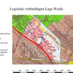 Logistieke verbindingen op het industrie en kantoren terrein Lage Weide te Utrecht.